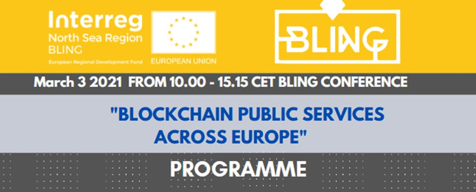 BLING midterm conference: Blockchain Public services across Europe event banner