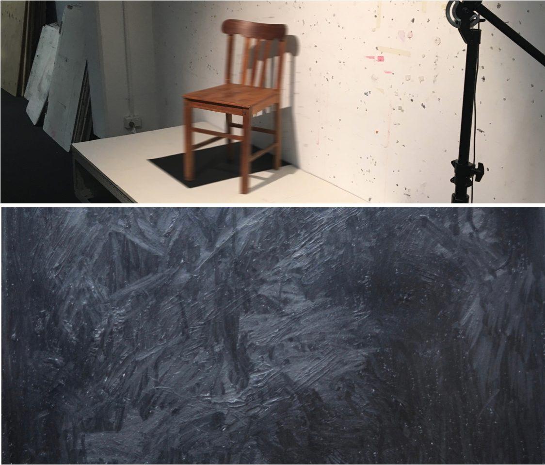 Paul Thomas, Quantum Sound (detail), 2013, graphite, graphite acrylic paint on paper.